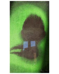 «Green» ~ Peinture ~ Acrylique ~ encadré 24x30cm ©PeggyAnnMourot Port compris France Belgique Luxembourg (ailleurs me demander)