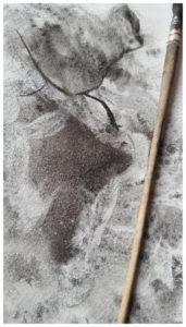 «J» ~ Dessin ~ Encre de Chine ~ encadré 13x18cm ©PeggyAnnMourot